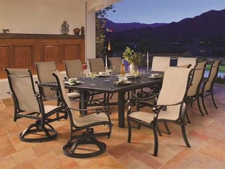 Castelle Bellanova Sling Cast Aluminum Casual Dining Set
