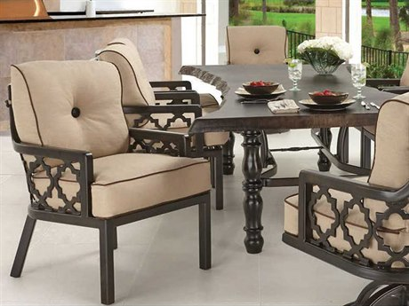 Castelle Belle Epoque Cushion Cast Aluminum Casual Dining Set