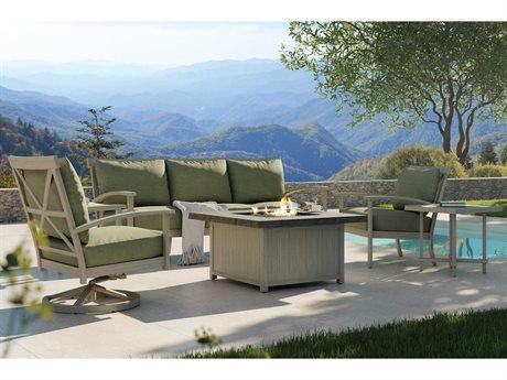 Castelle Biltmore Antler Hill Deep Seating Aluminum Fire Pit Lounge Set