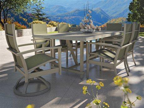 Castelle Biltmore Antler Hill Sling Aluminum Dining Set