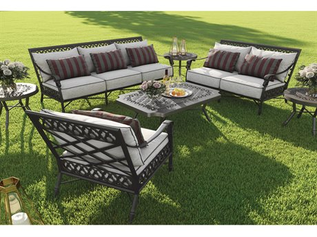 Castelle Biltmore Estate Deep Seating Cast Aluminum Lounge Set