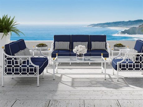 Castelle Barclay Butera Deep Seating Aluminum Lounge Set