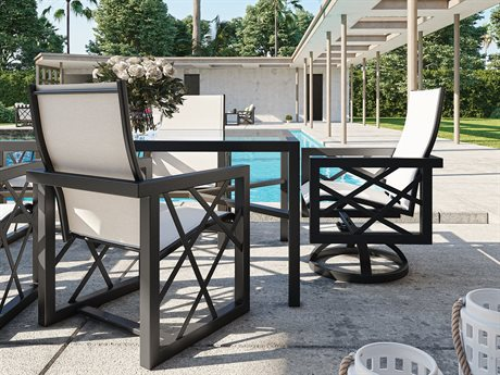 Castelle Barclay Butera Palm Springs Sling Aluminum Dining Set