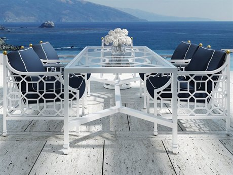 Castelle Barclay Cushion Aluminum Dining Set