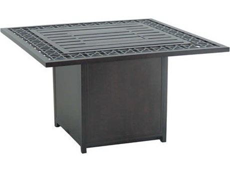 Castelle Lancaster Deep Seating Aluminum 38''Wide Square Coffee Fire Pit Table
