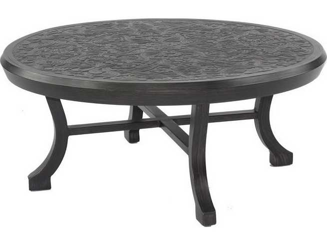 Castelle Chateau Cast Aluminum 42 44 Round Coffee Table
