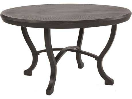 Castelle Chateau Cast Aluminum 54 Round Dining Table Ready to Assemble