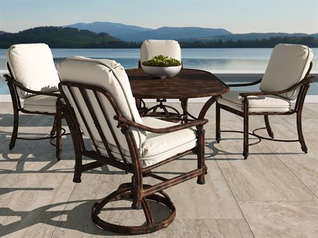 Castelle Coco Isle Cushion Cast Aluminum Dining Set