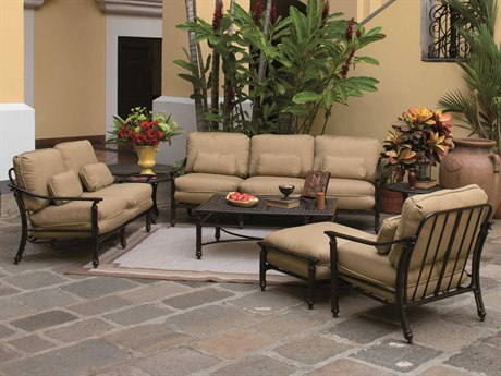 Castelle Coco Isle Deep Seating Cast Aluminum Lounge Set