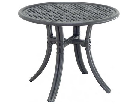 Castelle Resort Fusion Aluminum 24''Wide Round Occassional Table
