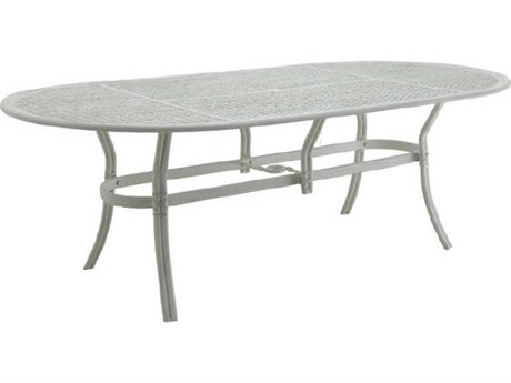 Castelle Resort Fusion Aluminum 84''W x 44''D Oval Dining Table PatioLiving