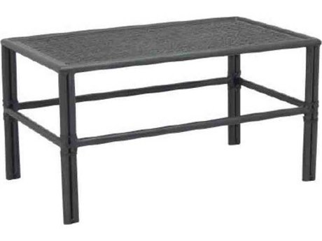 Castelle Resort Fusion Cast Aluminum 34''W x 18''D Rectangular Small Coffee Table