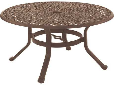 Castelle Sienna Cast Aluminum 42 Round Coffee Table Ready to Assemble