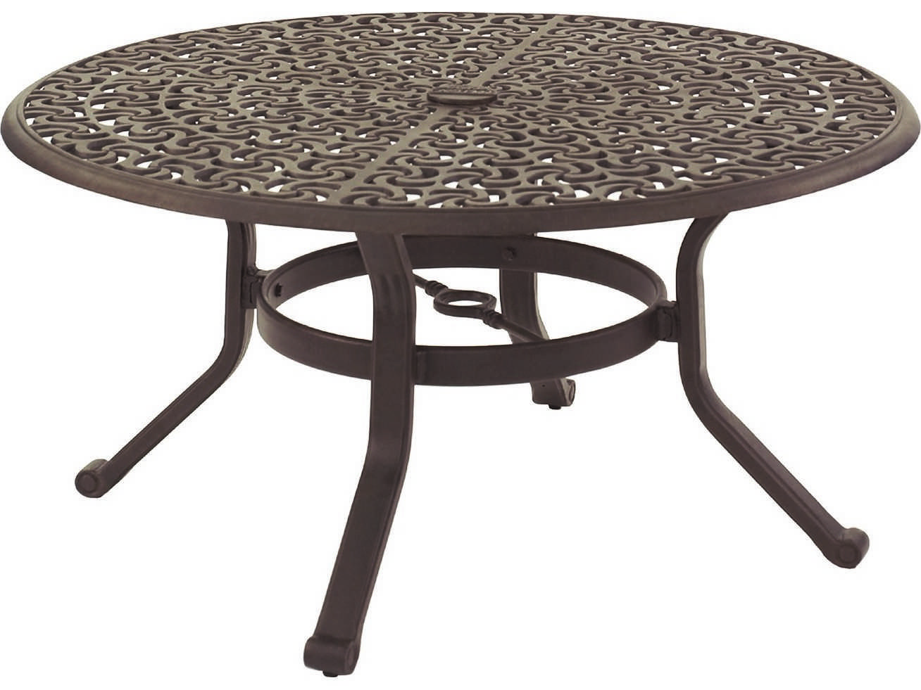 Castelle Sienna Cast Aluminum 42 Round Coffee Table Ready