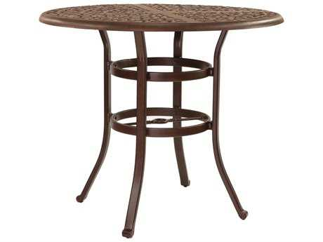 Castelle Sienna Cast Aluminum 42 Round Counter Height Table Ready to Assemble