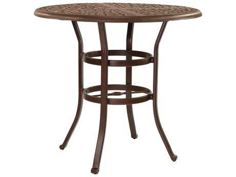 Castelle Sienna Cast Aluminum 42 Round Bar Height Table Ready to Assemble