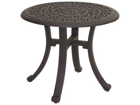 Castelle Sienna Cast Aluminum 24 Round Occasional Table Ready to Assemble
