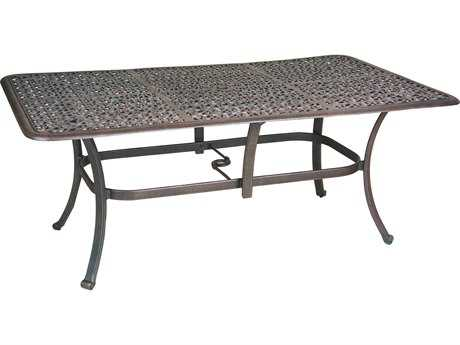 Castelle Sienna Cast Aluminum 72 x 40 Rectangular Dining Table Ready To Assemble