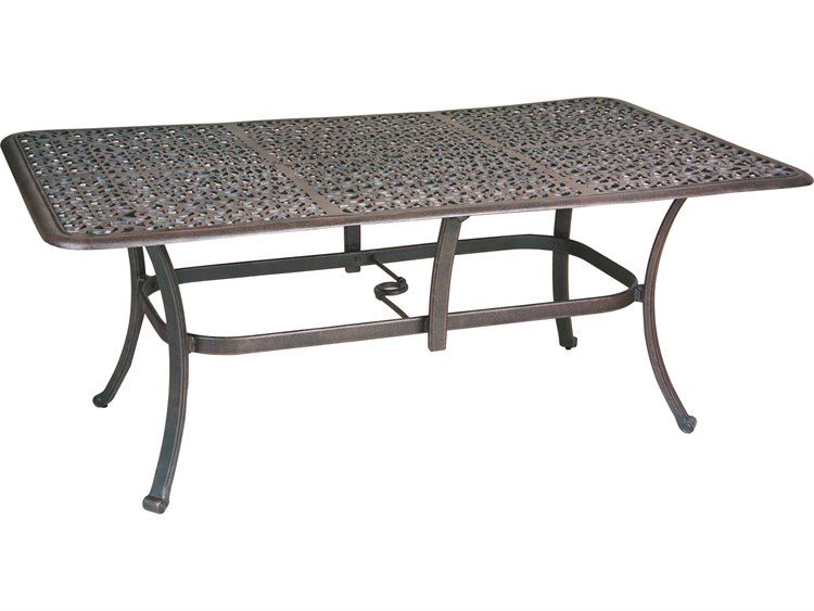 Castelle Sienna Cast Aluminum X Rectangular Dining Table Ready - Ready to assemble picnic table