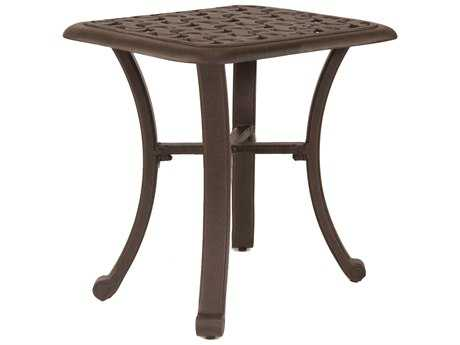 Castelle Sienna Cast Aluminum 20 Square Side Table Ready to Assemble
