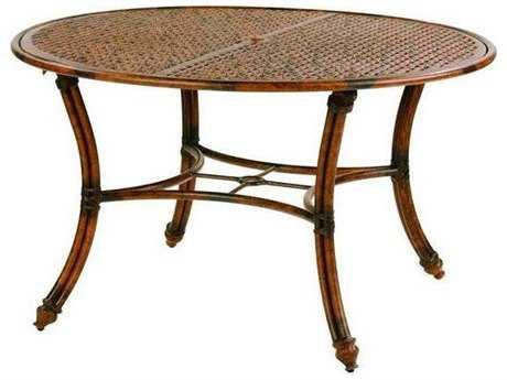 Castelle Coco Isle Cast Aluminum 48 - 49 Round Dining Table