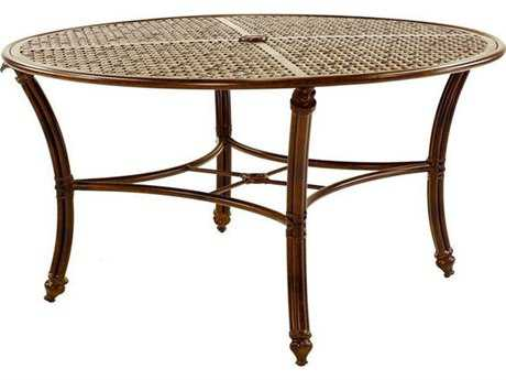 Castelle Coco Isle Cast Aluminum 54 Round Dining Table