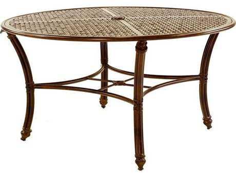 Castelle Coco Isle Cast Aluminum 54 Round Dining Table PFECD54