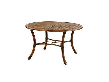 Castelle Coco Isle Cast Aluminum 48 - 49 Round Dining Table (Ready to Assemble