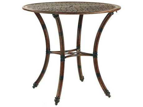 Castelle Coco Isle Cast Aluminum 42 - 44 Round Bar Height Table