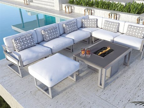 Castelle Eclipse Cast Aluminum Sectional Set