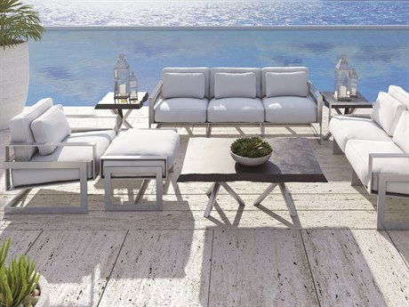 Castelle Eclipse Deep Seating Cast Aluminum Lounge Set PFECLPDSLNGSET