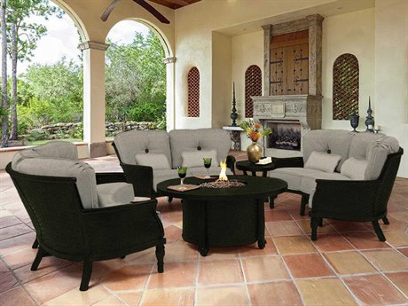 Castelle English Garden Deep Seating Cast Aluminum Lounge Set