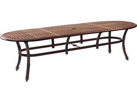 Castelle Coco Isle Cast Aluminum 108W x 48-49D Oval Dining Table Ready To Assemble