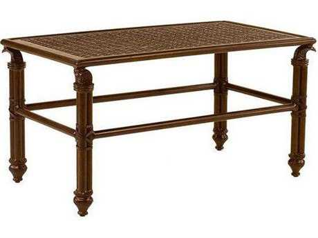 Castelle Coco Isle Cast Aluminum 34-36W x 18-20D Small Rectangular Coffee Table