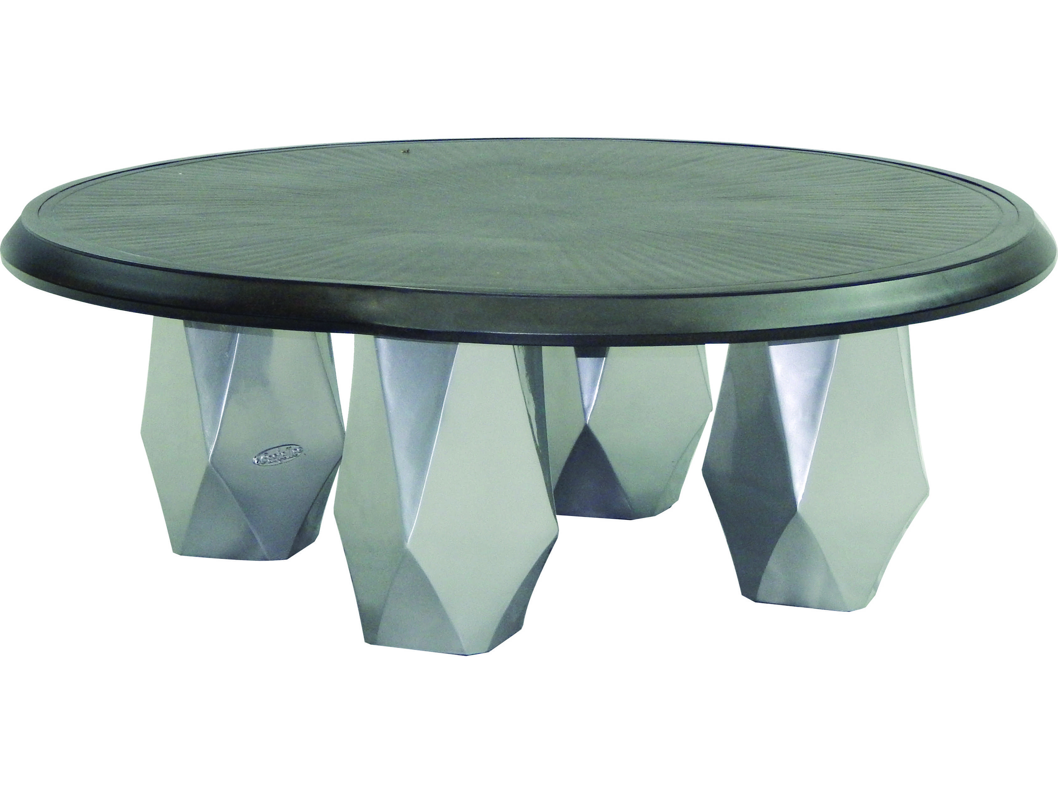 Castelle Arcadia Aluminum 42 Round Coffee Table Pffcm42
