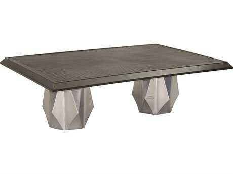 Castelle Arcadia Aluminum 48 x 32 Large Rectangular Coffee Table