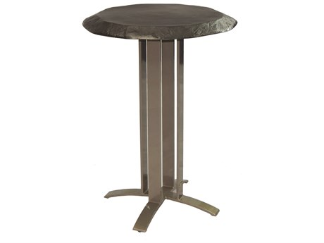 Castelle Moderna Cast Aluminum 28 Round Bar Table
