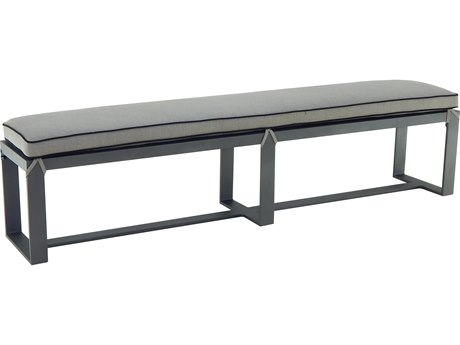 Castelle Moderna Cast Aluminum Bench with seat pad