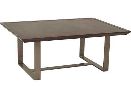 Castelle Moderna Cast Aluminum 42 x 30 Rectangular Coffee Table