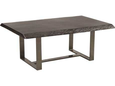 Castelle Moderna Cast Aluminum 52''W x 35.5''D Rectangular Coffee Table