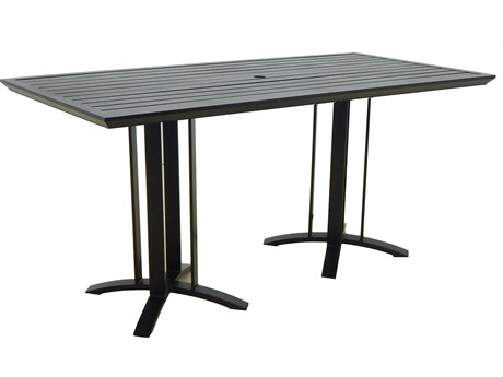 Castelle Moderna Cast Aluminum 74W x 35.5-36D Rectangular Dining Table