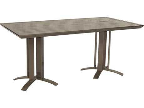 Castelle Moderna Cast Aluminum 64 x 36 Rectangular Counter Table