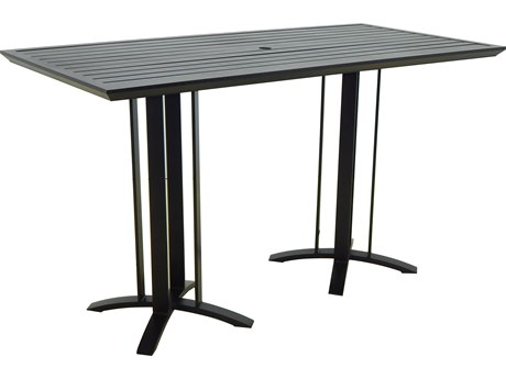 Castelle Moderna Cast Aluminum 74W x 35-36D Rectangular Bar Table