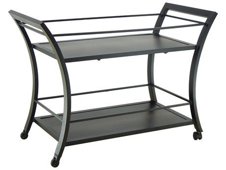 Castelle Moderna Cast Aluminum 34-46.5W x 18-22.5D Rectabgular Serving Cart