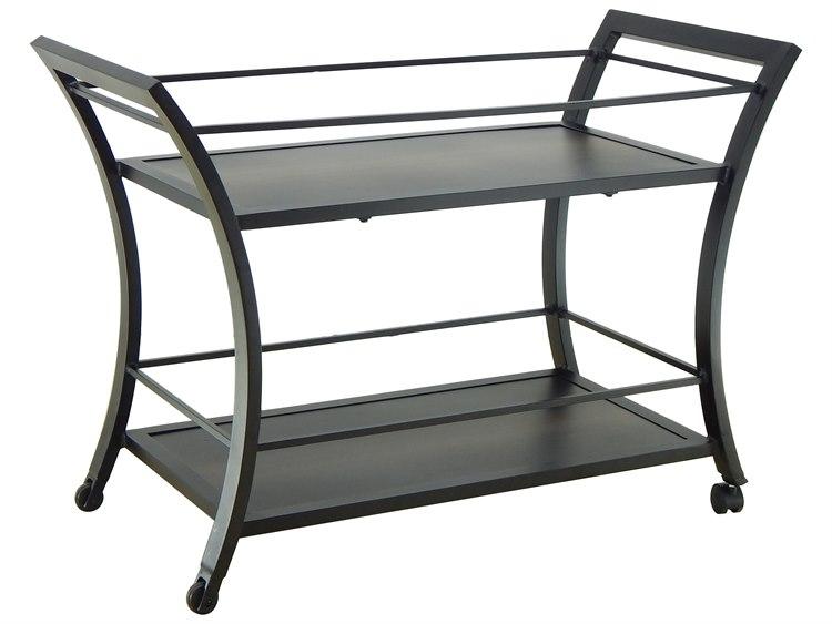 Castelle Moderna Cast Aluminum 34-46.5W x 18-22.5D Rectabgular Serving Cart PatioLiving