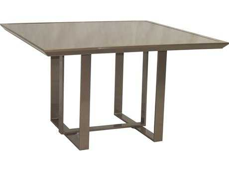 Castelle Moderna Cast Aluminum 44W - 47W Square Dining Table