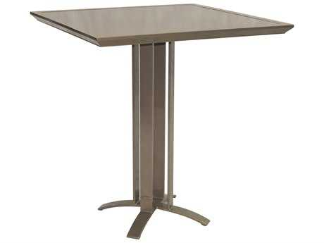 Castelle Moderna Cast Aluminum 38 Square Counter Height Table