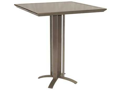 Castelle Moderna Cast Aluminum 38 Square Bar Height Table