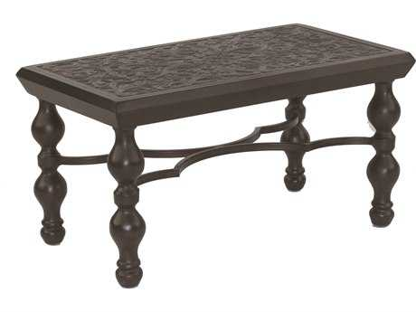 Castelle Tuscan Cast Aluminum 34-36W x 18-20D Small Rectangular Coffee Table