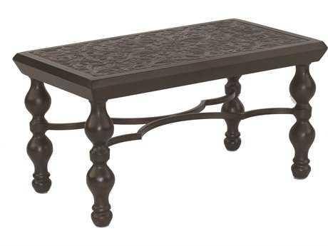 Castelle Tuscan Cast Aluminum 36 x 20 Small Rectangular Coffee Table